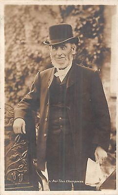 POSTCARD  PERSONS   RELIGION    REV  Thos  CHAMPNESS