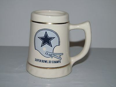 NFL Dallas Cowboys 1978 Super Bowl XII Champs Miniature Mug Stein EUC