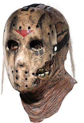 Friday the 13th Part 7 Jason Voorhees 2 Piece Costume Latex Hockey Mask Vorhees