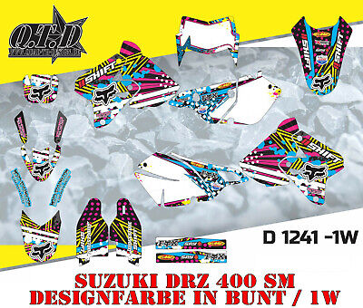 Motostyle Dekor Kit Mx Suzuki Drz 400 Sm Graphic Kit D1241 B