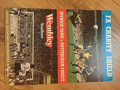 1978 FA Charity Shield Programme Ipswich Town v Nottingham Forest MINT Condition