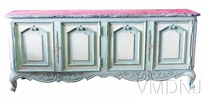 VMD1566 Large Gustavian Style Louis XVI Style Marbletop Sideboard
