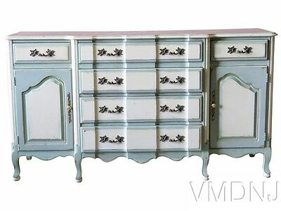 VMD1564 Gustavian Style Distressed Painted Sideboard