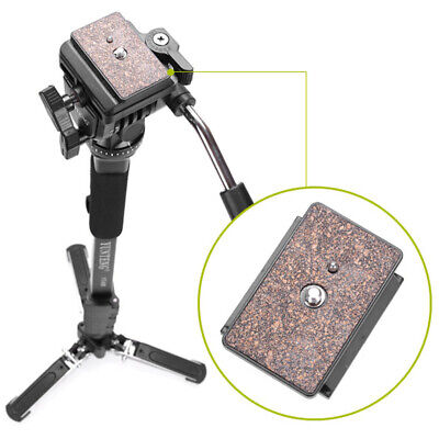 Desktop DSLR Camera Tripod Stand Monopod Fluid Pan Ball Head Unipod Holder Kit