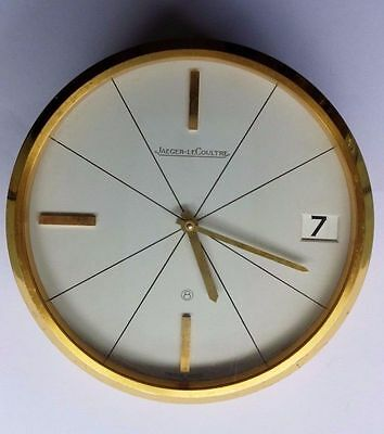 Very Rare Vintage 8 Days Desk Clock Jaeger Lecoultre !! Working Perfect