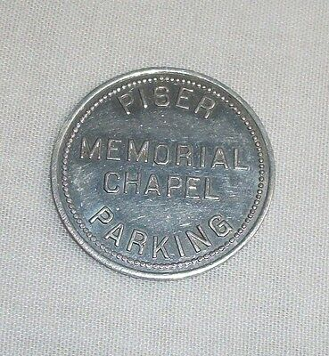 Vintage Aluminum Token Piser Memorial Chapel Parking Church