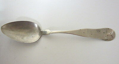 Antique Coin Silver Serving Spoon LINCOLN & FOSS c1850 Boston Engraved USA
