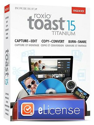 Roxio Toast 15 Titanium Mac Version Mac OS X 3PC