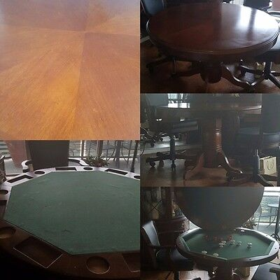 Mahogony Poker and Bumper Table - 2 Chairs -  good condition.  Pick up