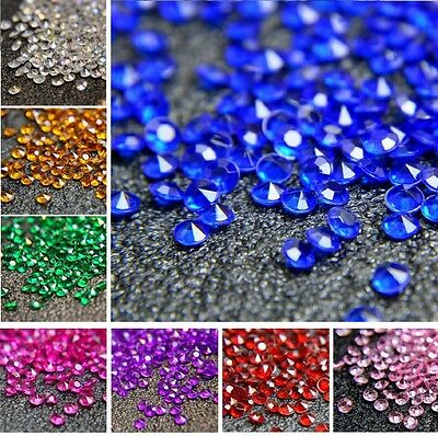 6000 Mixed Wedding Party Scatter Table Crystal Diamond Confetti Sparkly Beads
