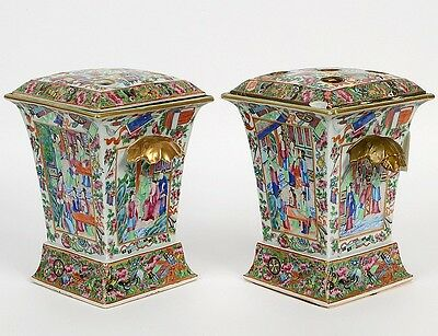 PAIR OF CHINESE EXPORT FAMILLE ROSE PORCELAIN VASES Lot 64