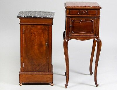 TWO FRENCH 19TH CENTURY MARBLE TOP SIDE TABLES Lot 299