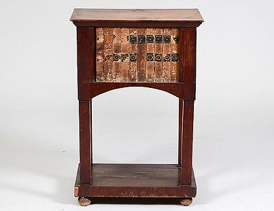 FRENCH BOOK-BOUND WALNUT SIDE TABLE Lot 302
