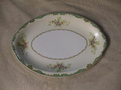 """EUC Meito Made in Japan China Ardsley Pattern Oval Serving Platter 12"""""""