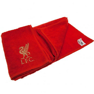 Official Liverpool Embroidered FC Football Club Jacquard Red Bath Beach Towel