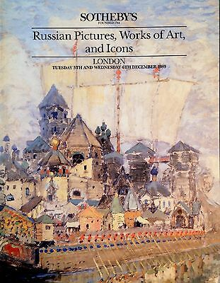 Sotheby's RUSSIAN PICTURES, WORKS OF ART and ICONS, Paintings London Sale 1989
