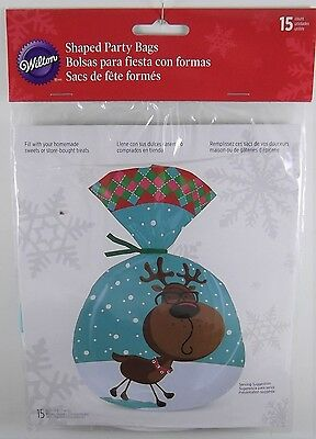 New, Wilton Christmas Reindeer With Glasses Party Bags