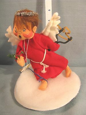 """Annalee Dolls  7"""" Naughty Angel in Red w/Black Eye 7116 1994-Hang TAG -EXCELLENT"""