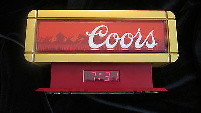Coors Cash Register Sign and Clock Vintage 1989