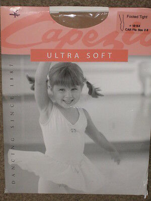 Capezio 1815X Girl's Ultra Soft Footed Tights sz: 2-6 color: CAR NEW