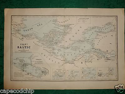 Six (6) Orig Maps 1856 -1867 - Augustus Mitchell Desilver Baltic Spain S America