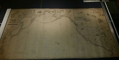 1879 Imray Map or Blueback Nautical Chart of the North Pacific- Inc. China & US