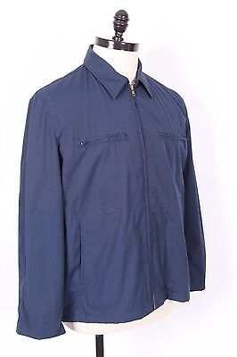 Vtg Usn Us Navy Blue Utility Deck Coat Jacket Ds Nwots Usa Mens 44 Reg