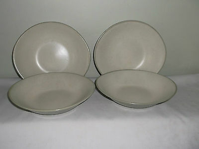 A Nice Set Of Four  Harker Country Style  Pepper White Soup Bowls