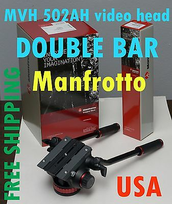 Manfrotto MVH502AH pro video head (double bar) for Sony Canon Nikon camera
