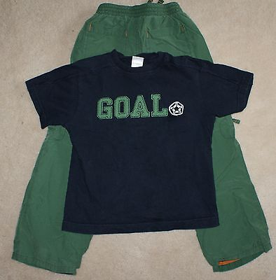 Boys Gymboree Old Navy 2pc. Outfit set Cargo Pants Soccer T-Shirt size 4