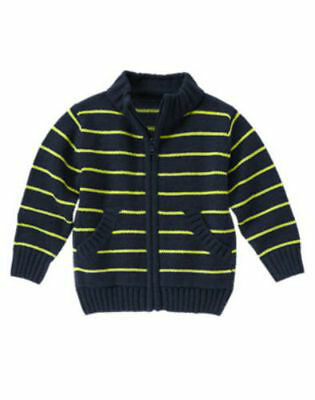NWT Gymboree Boy STAR BRIGHTS Navy Blue Striped Sweater  18-24 Months