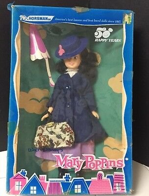 Vintage Walt Disney's Mary Poppins Horsman Doll #928 in Original Box~Nylon Coat