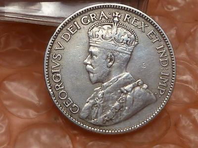Canada 1914 Silver 25 Cents Coin Lower Mintage #2