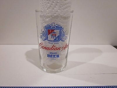 Rare Vtg Canadian Ace Beer Glass Manhattan Brewing Chicago Al Capone Man Cave