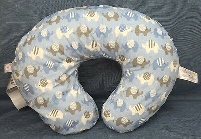 New Original Boppy Pillow Cover Slipcover Classic Elephant Blue Nursing Support