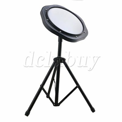 "10"" 25cm Plastic Dumb Drum Practice Pad Set with Triangle Metal Bracket"