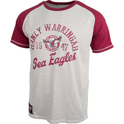 Manly Sea Eagles NRL Gray Classic T Shirt Size S-5XL! BNWT's!6