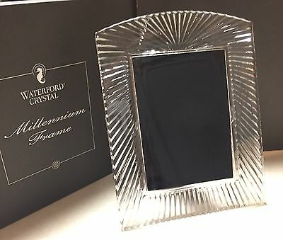 """Waterford Crystal 5""""x7"""" Picture Frame """"Millennium"""" # 104145   New In Box!"""