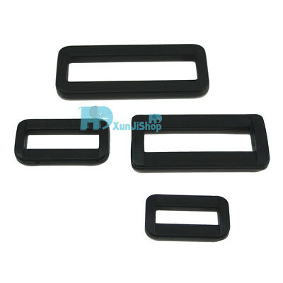 "Rectangle Plastic Square Dee Ring D Belt Buckles 2"" 1.5"" 1"" 7/8"" 50 38 25 21mm"