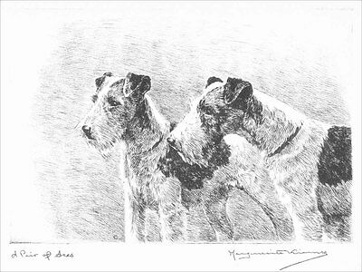 Wire Fox Terrier Dogs  Marguerite Kirmse 1929  8 New Large Note Cards