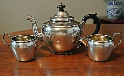 International Sterling Silver Coffee / Tea Set, Pot, Creamer, Sugar 820 Grams
