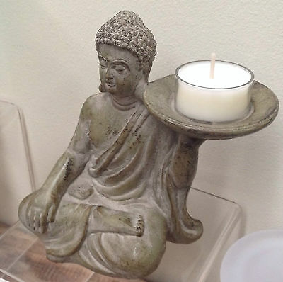 Brand New Zen Buddha Tealight Set Feng Shui Decoration Tea Light Candle Holder