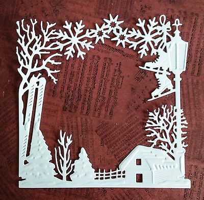 Christmas Frame Die Cuts - White - Pack Of 5