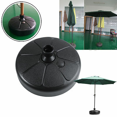 38cm Plastic Parasol Outdoor Round Umbrella Base Stand Holder Beach Garden