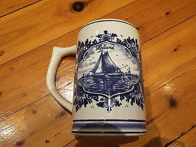 Delft Blue , Hand Painted Mug . Made in Holland