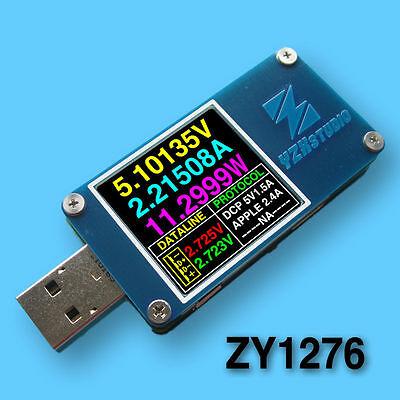Dual USB Power Monitor ZY1276 QC 3.0 TypeC PD tester Charging Voltage current