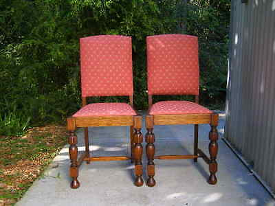 Vintage -English Oak Chairs X 2