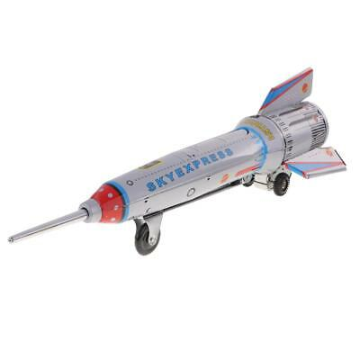 Metal Friction Interia Space Rocket Model Menchincal Tin Toys Collectibles