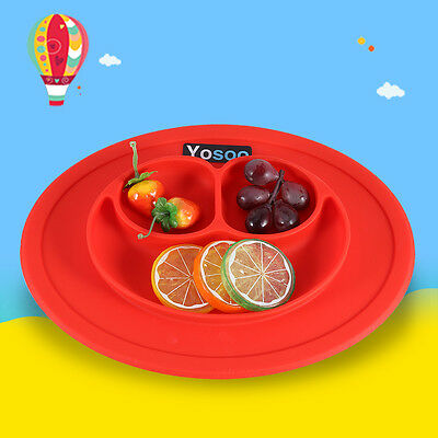 UK lovely Silicone Mat Suction Table Food Tray Placemat Plate Bowl for Baby Kids