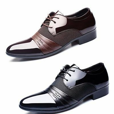 Men's Oxfords Leather Formal Office Work Shoes Casual Pointed Toe Wedding Shoes
